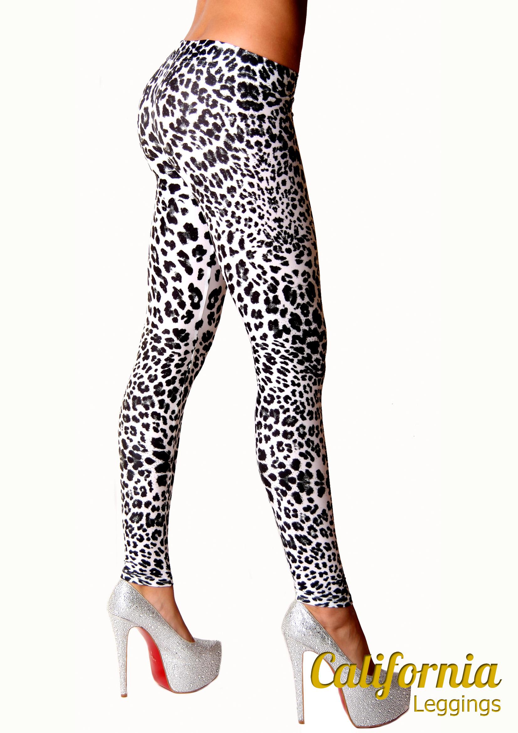 Леггинсы California Калифорния White Leopard