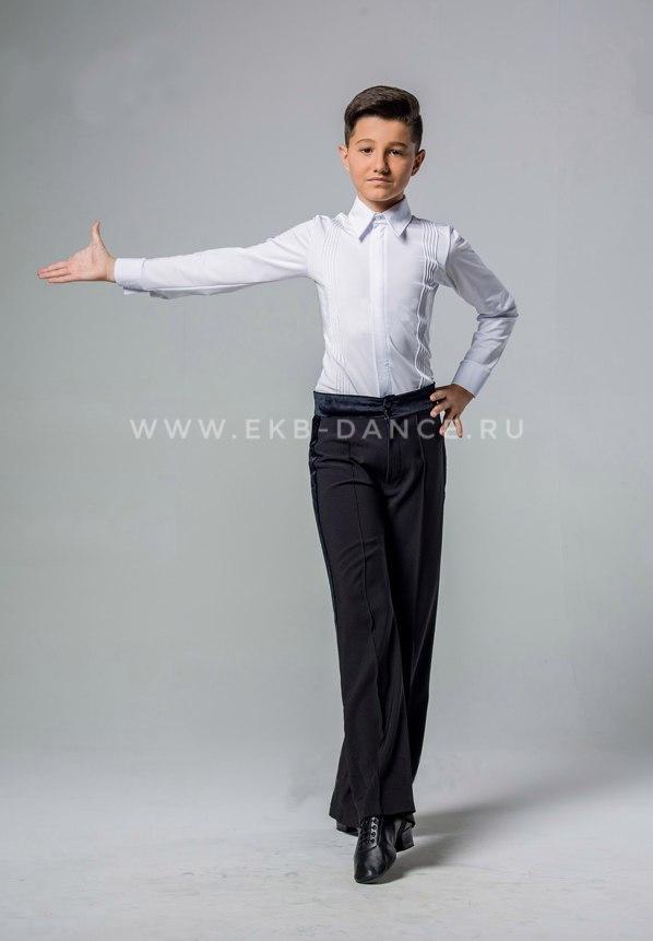 Белая рейтинговая рубашка-боди для танцев для мальчика
