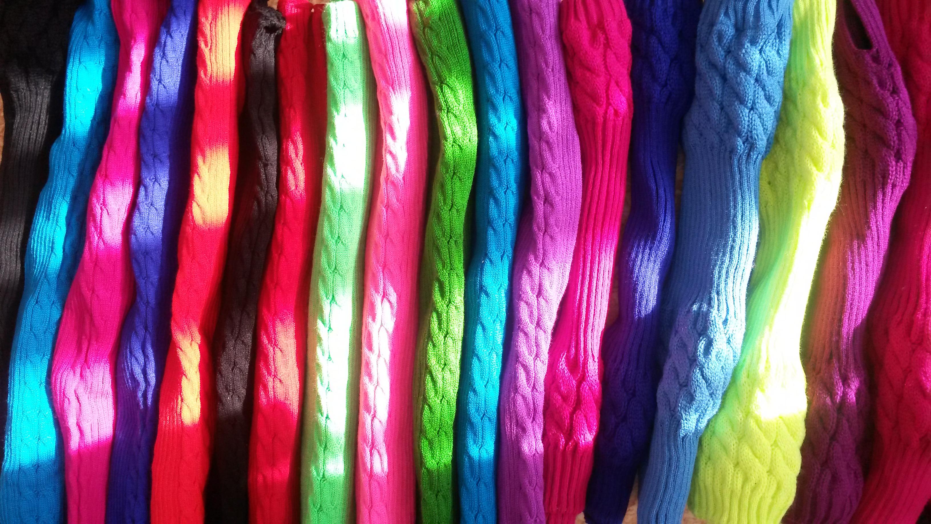 Разноцветные  короткие гетры для танцев