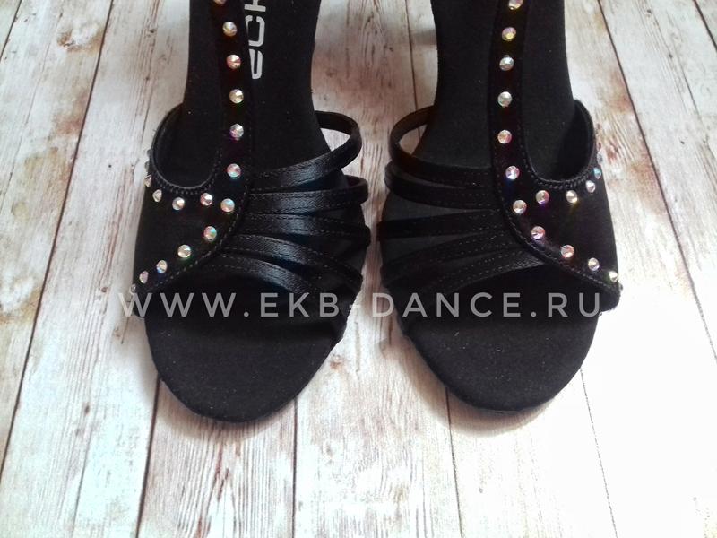 """Туфли латинские чёрные со стразами """"Орнелла"""" Эксе"""