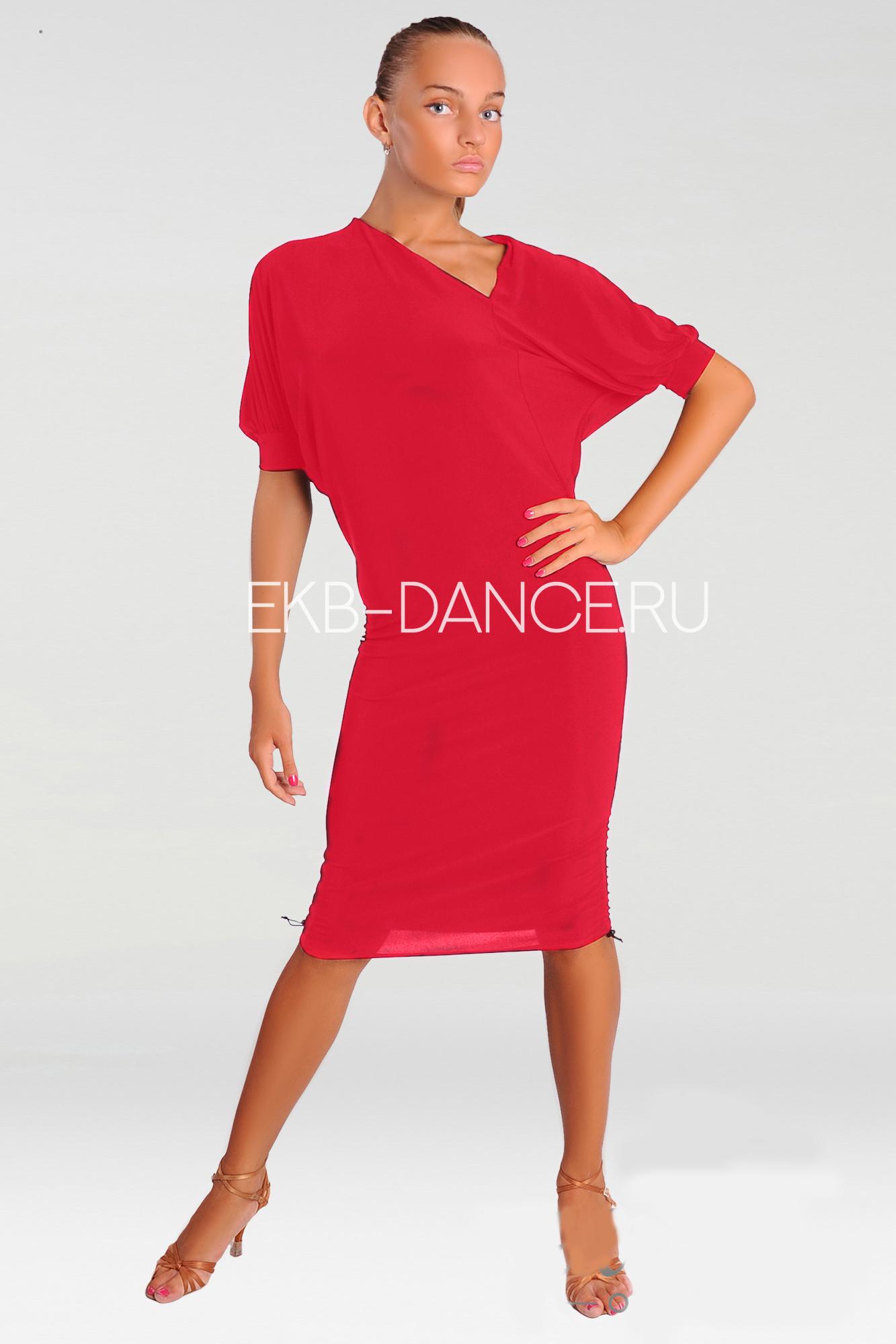 Платье латинское коралловое ПЛ253