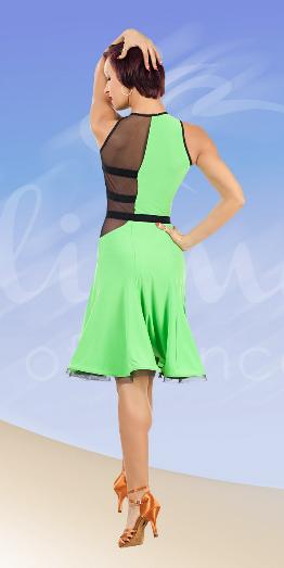 Платье латина ПЛ689 салатовое