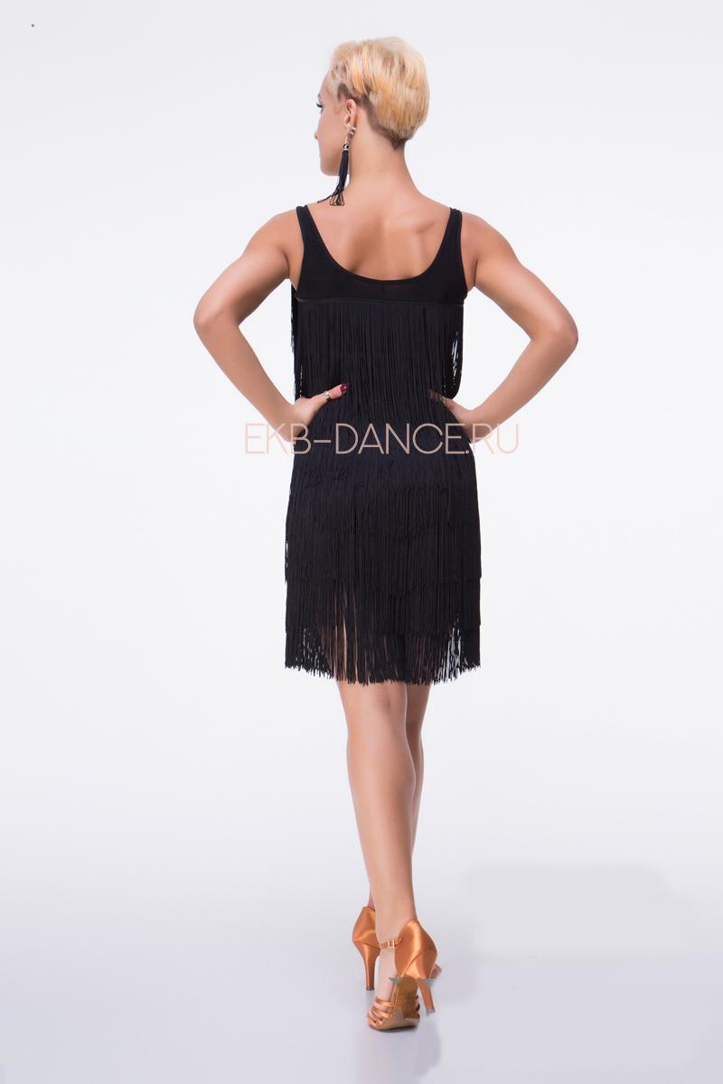Латинское платье с бахромой ПЛ849