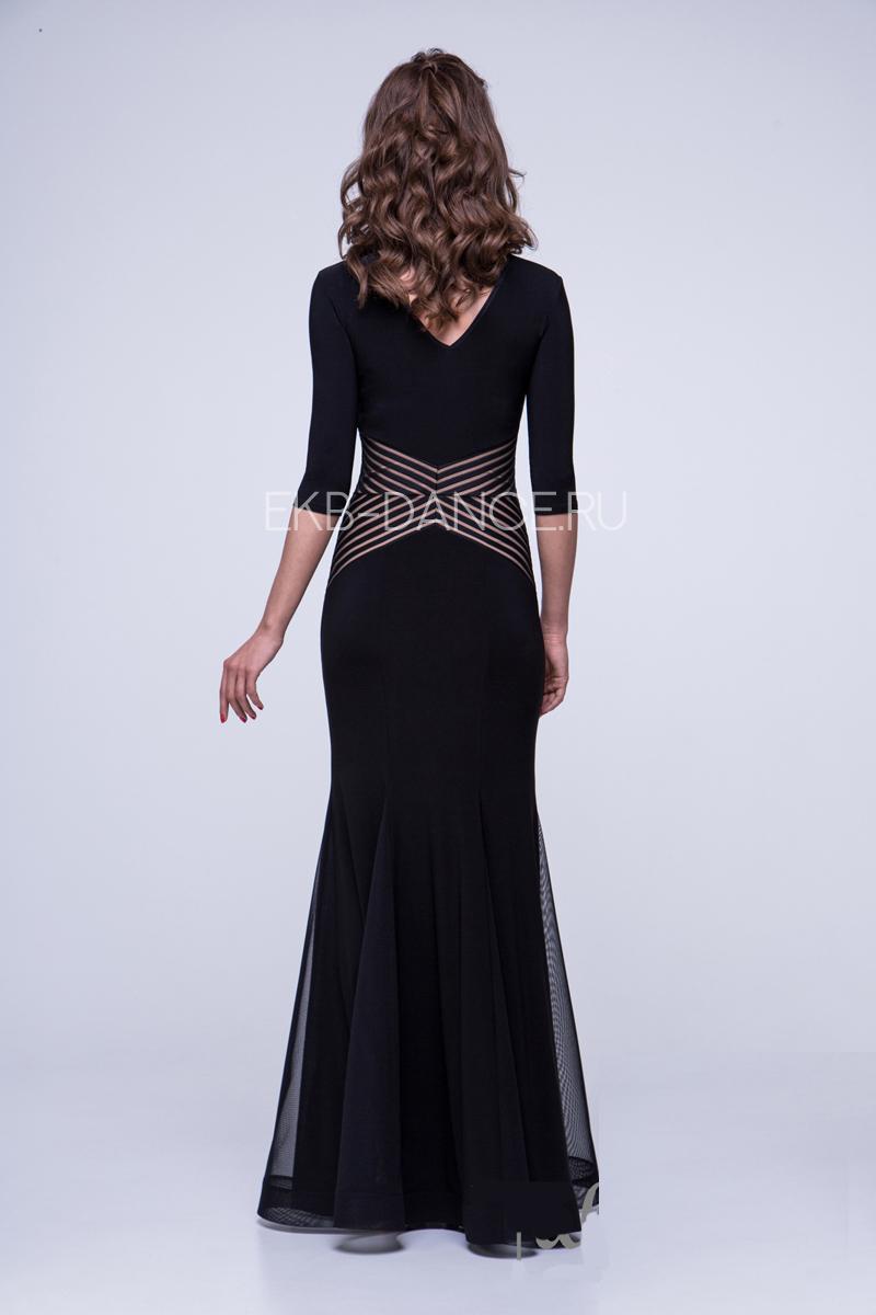 Платье для стандарта со вставкой на поясе (ПС 974)