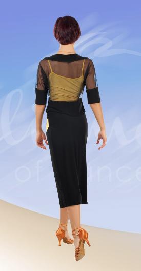 юбка для латины с запахом ЮЛ707