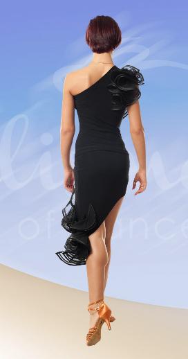 юбка для латины прямая короткая ЮЛ717