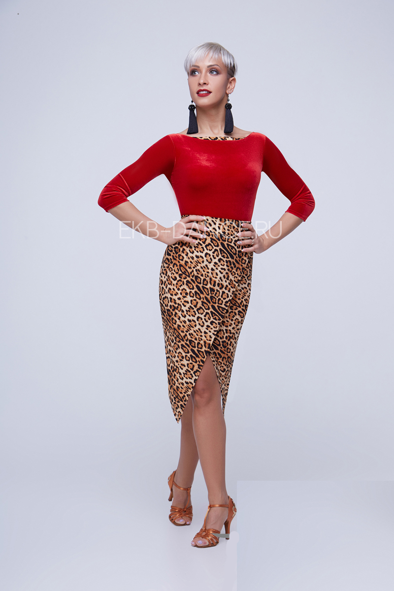 Юбка леопардовая ЮЛ951