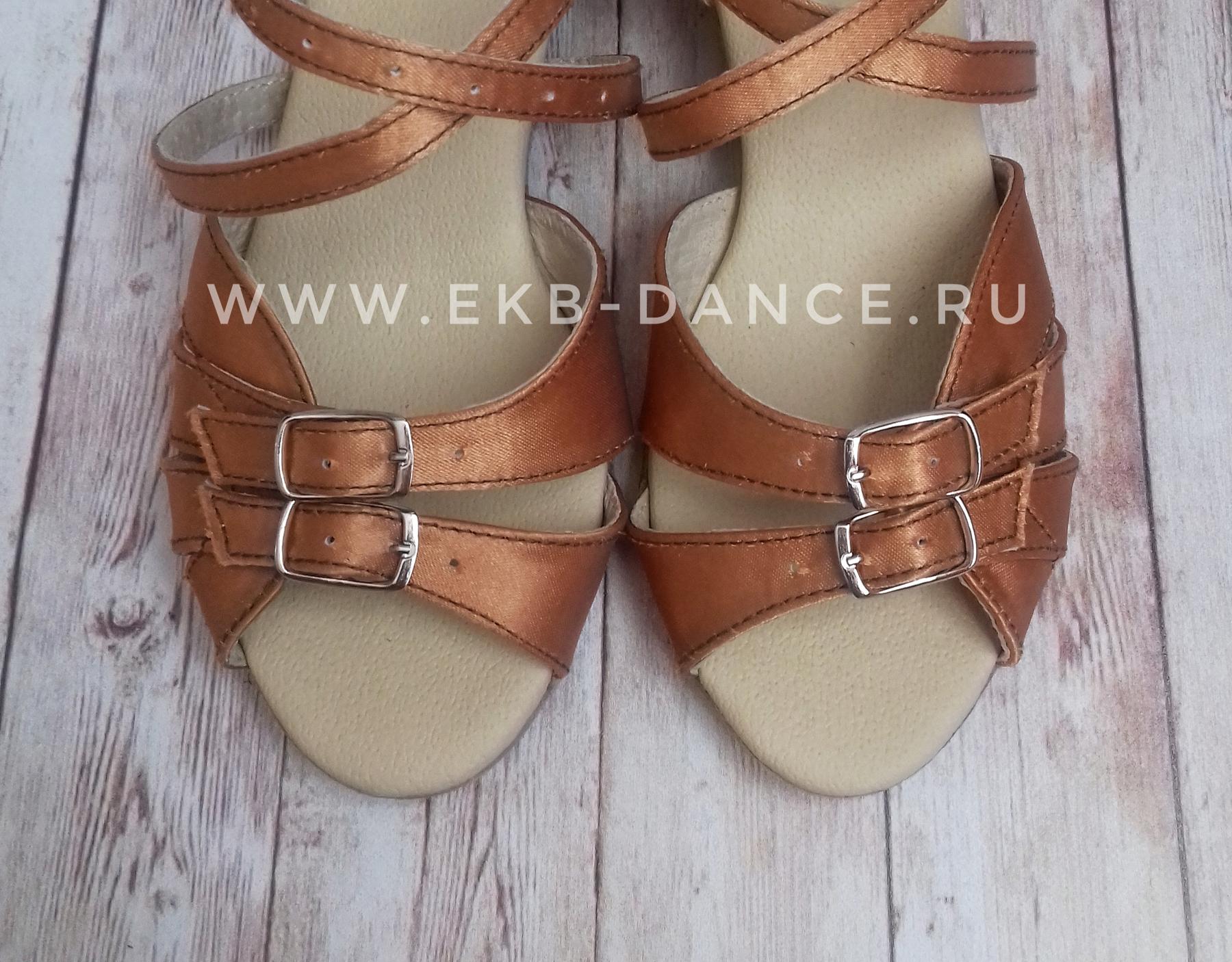 танцевальные рейтинговые туфли для девочки, Василиса, цвет загар