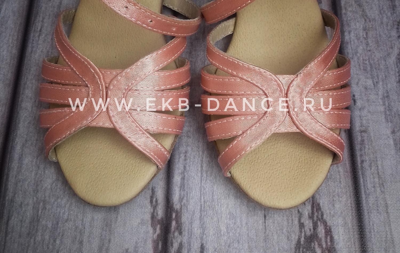 танцевальные туфли для девочки, Жанна, розовый сатин