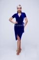 Платье из синего велюра (ПЛ 923/1)