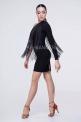 Короткое платье с длинной бахромой (ПЛ-1061/2)