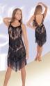Платье латинское, лиф-гипюр с настроченой бахромой (ПЛ №238)