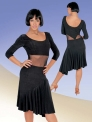 Платье латинское, лиф и юбка соединены сеткой (ПЛ №356)