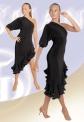 Платье вечернее. 1 рукав, по боку волан (ПЛ №252)