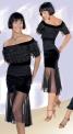 Блуза вечерняя с воланами из сетки (БЛ №350)