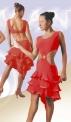 Платье, топ соединен с юбкой кольцом (ПЛ-214), красное
