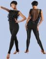 Блуза с гипюровой спинкой и воланами (БЛ №366)