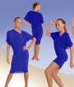Платье. Низ-драпировка на шнурках. Синее (ПЛ №253)