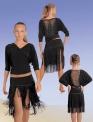 Блуза цельнокройная с бахромой по спинке (БЛ №234)
