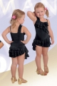 Платье латинское с воланами, черное (ПЛ №260)