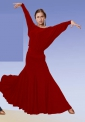 Юбка для стандарта и фламенко, красная (ЮС №65)
