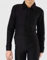 Рубашка-боди черная на молнии
