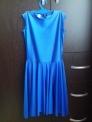 Платье рейтинговое без рукавов, РП 4, сапфир