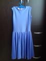 Платье рейтинговое без рукавов, РП 4, сиренево-голубое