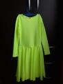 Платье рейтинговое с длинным рукавом, РП 8, лимонное
