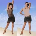 Платье латинское с телесной спинкой (ПЛ 379/1)