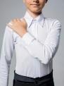 Белая рубашка-боди с защипами, закрытая молния