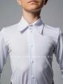 Белая рубашка-боди (комбидрес) на пуговицах