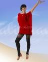 Блуза-туника красная (БЛ 358)