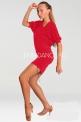 Платье латинское, коралловое (ПЛ 253)