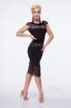 Прямая латинская юбка с кружевом (ЮЛ830)